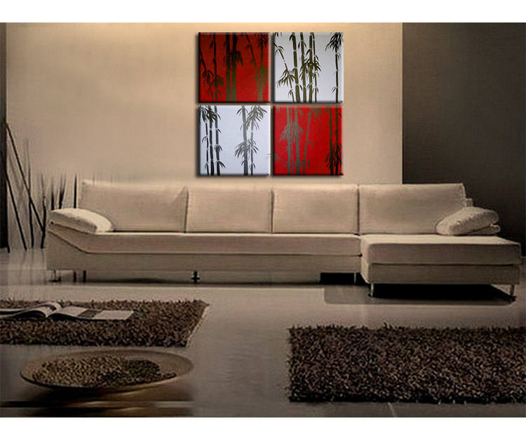 Huge Bamboo Painting Asian Zen Art Pick Your Color And