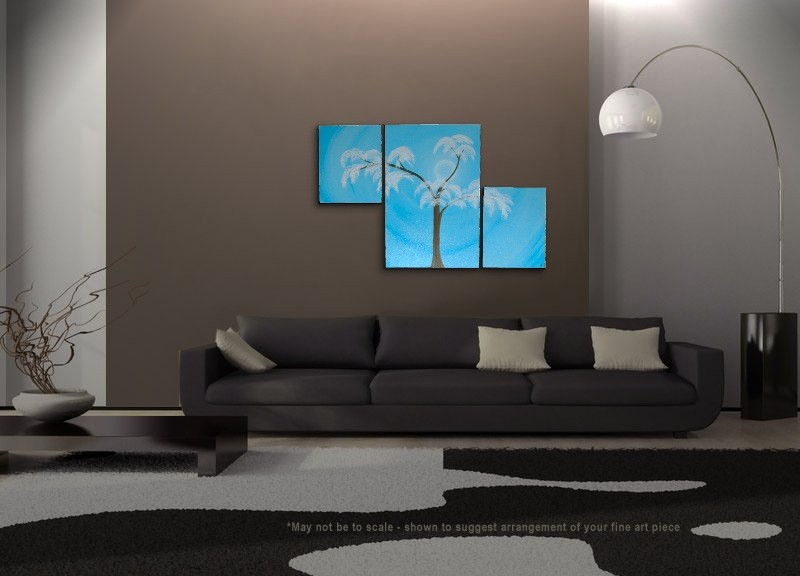Aspen Tree Painting Modern Abstract Triptych Art Huge ...