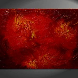 Huge Red Abstract Painting Textured Wall Art Original Passionate Home or Office Decor Ready to ship 40x30
