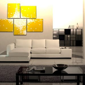 Huge Yellow Abstract Painting Large Original Textured Art Bright Happy Modern Sunny Yellow Contemporary Uplifting Art 56x40 Custom