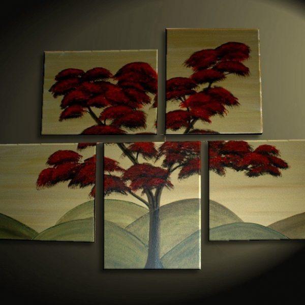 Japanese Tree Painting Huge Original Asian Style Art Fall Modern Abstract Custom 56x40