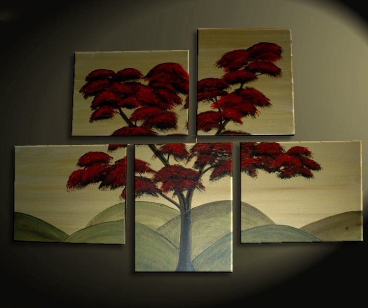 Japanese Tree Painting Huge Original Asian Style Art Fall Modern Abstract Custom 56x40