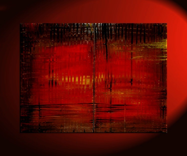 Large Red Abstract Painting Bold Modern Original Textured HUGE Urban Art  Custom Version Big Wall Art