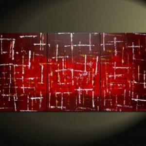 Office Art Large Red Burgundy Modern Abstract Painting Original Textured Art HUGE Urban Art Big Custom Version 72x36