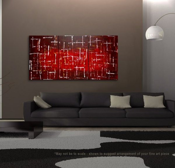 modern art for office. Office Art Large Red Burgundy Modern Abstract Painting Original Textured HUGE Urban Big Custom For S
