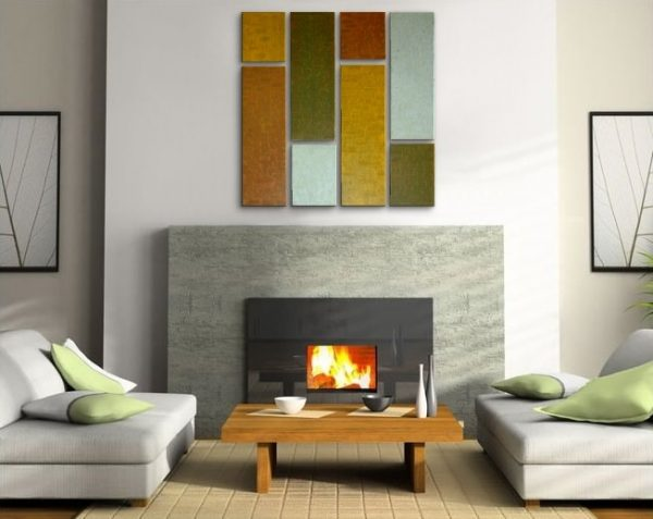 Original Abstract Painting Contemporary Art Textured Earthy Neutral Warm Colors Eight Canvases 41x41 Custom