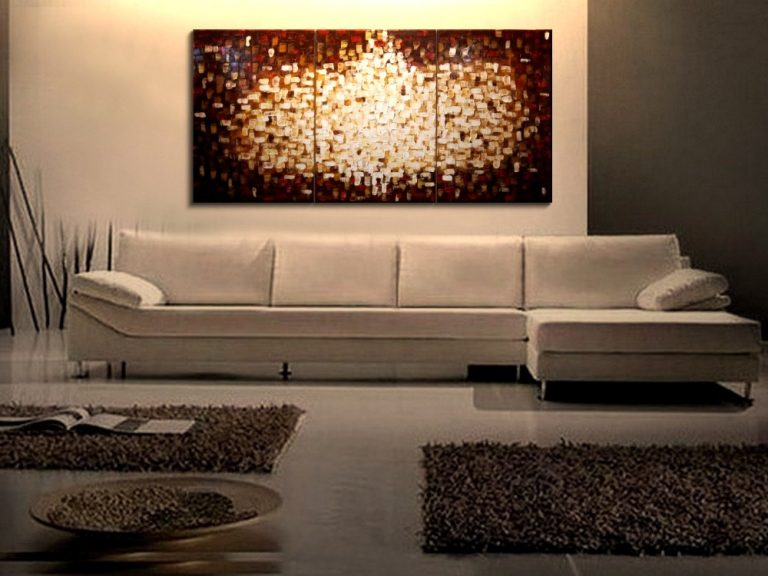 Large Textured Painting Brown Red Modern Abstract Art Yellow White Sun Burst Original Big Palette Knife Art HUGE Urban Sunburst 72x36