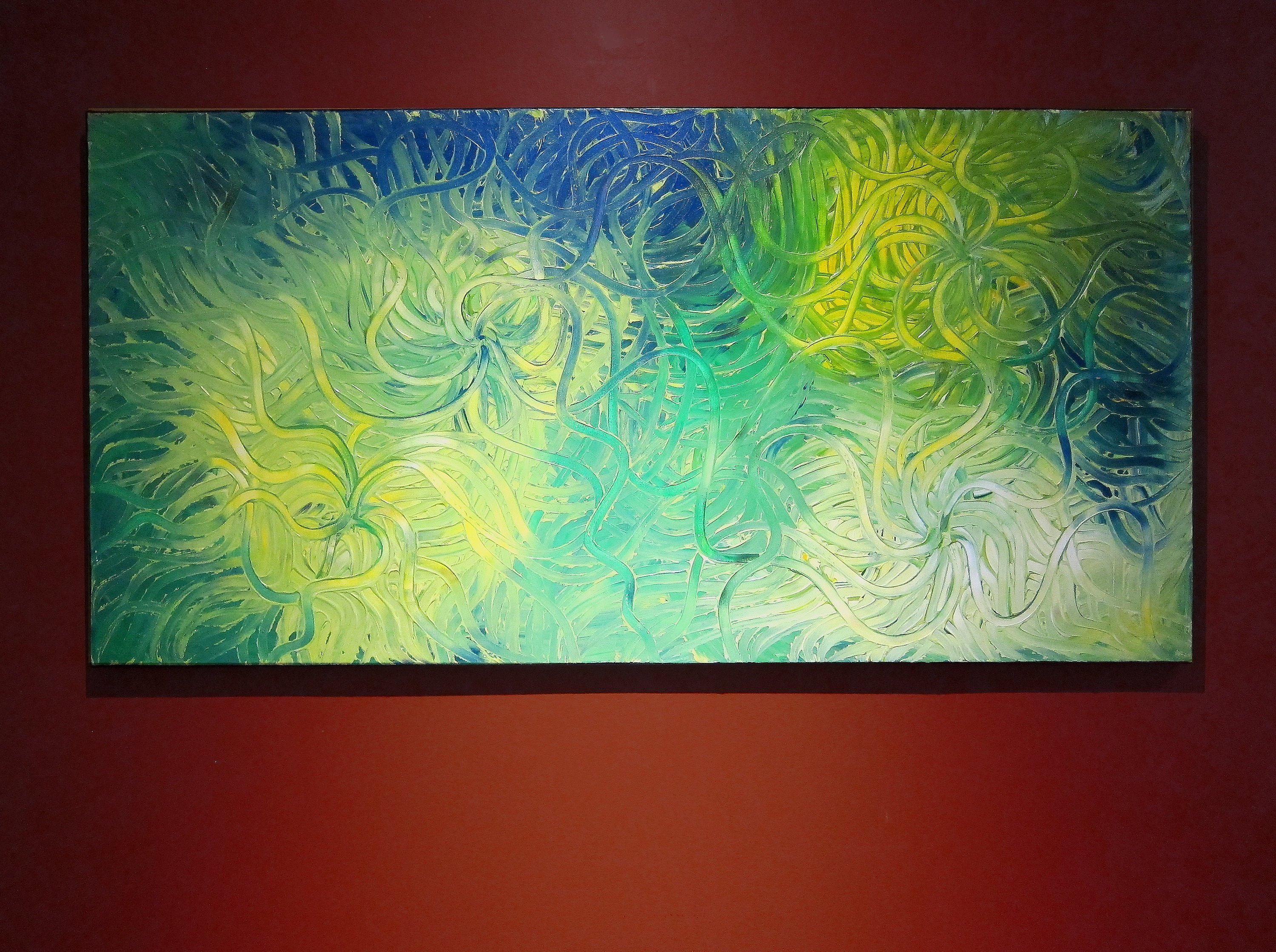 Large Green Abstract Painting Textured Wall Art Original Artwork Home Or Office Decor Ready To Ship 48x24